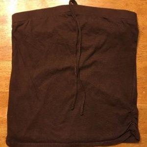 Xhilaration Girl's Brown Halter Top Shirt/Blouse L